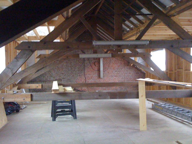 un hangar un loft un projet charpente. Black Bedroom Furniture Sets. Home Design Ideas