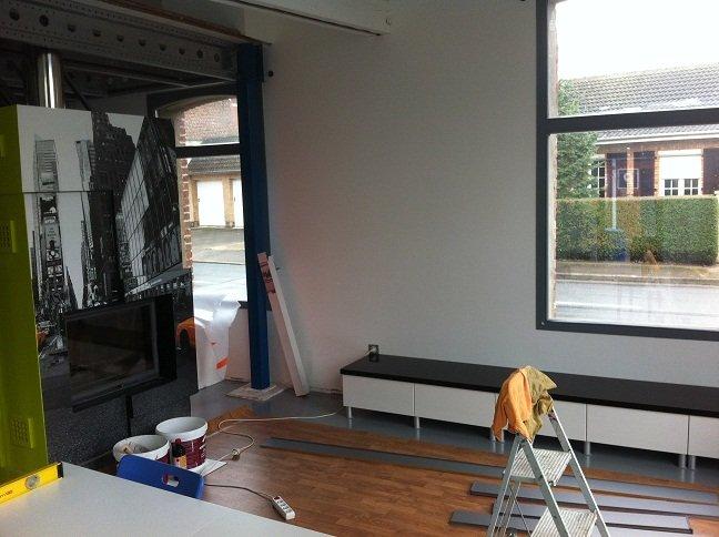 un hangar un loft un projet le coin t l. Black Bedroom Furniture Sets. Home Design Ideas